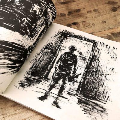 Detalhe Disco de Vinil Manu Maltez, O Rabequeiro maneta e a fúria da natureza